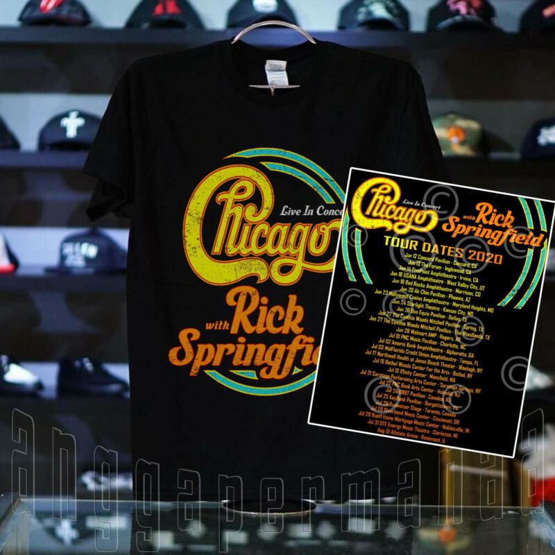 #CTB/RS Chicago The Band With Rick Springfield Tour Shirt Concert 2020 T-SHIRT
