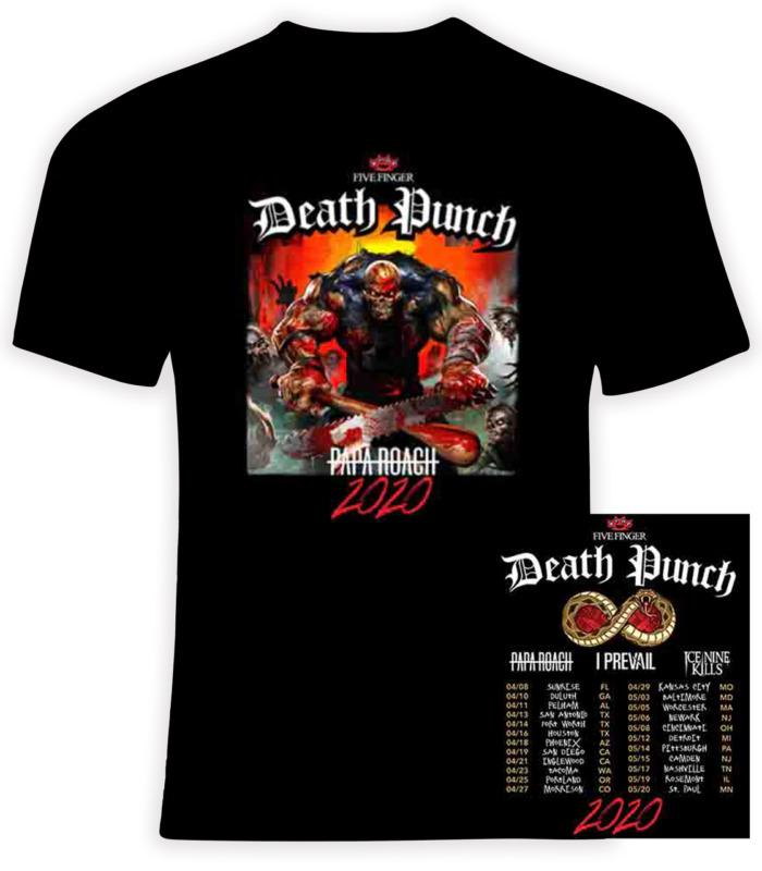Five Finger Death Punch 2020 Concert Tour T-Shirt S-3XL