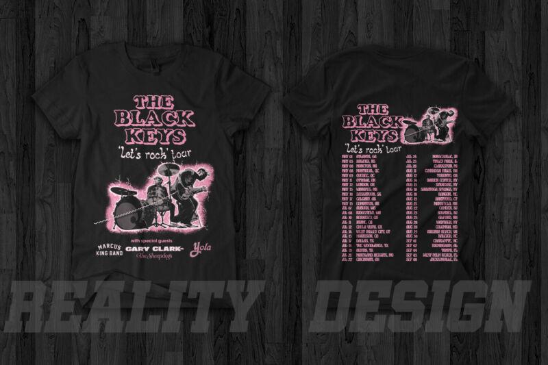 The Black Keys Lets Rock Tour 2020 T-Shirt Gary Clark Jr. The Sheepdogs Yola