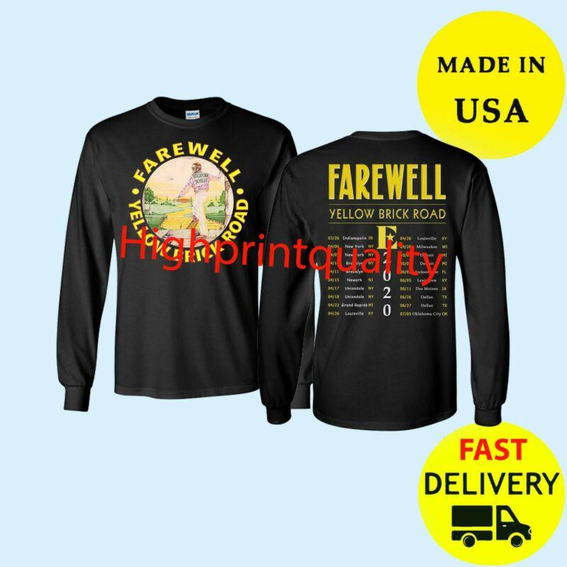 Elton John Shirt Tour 2020 Long T-Shirt Black Mens Gift All Size Tee