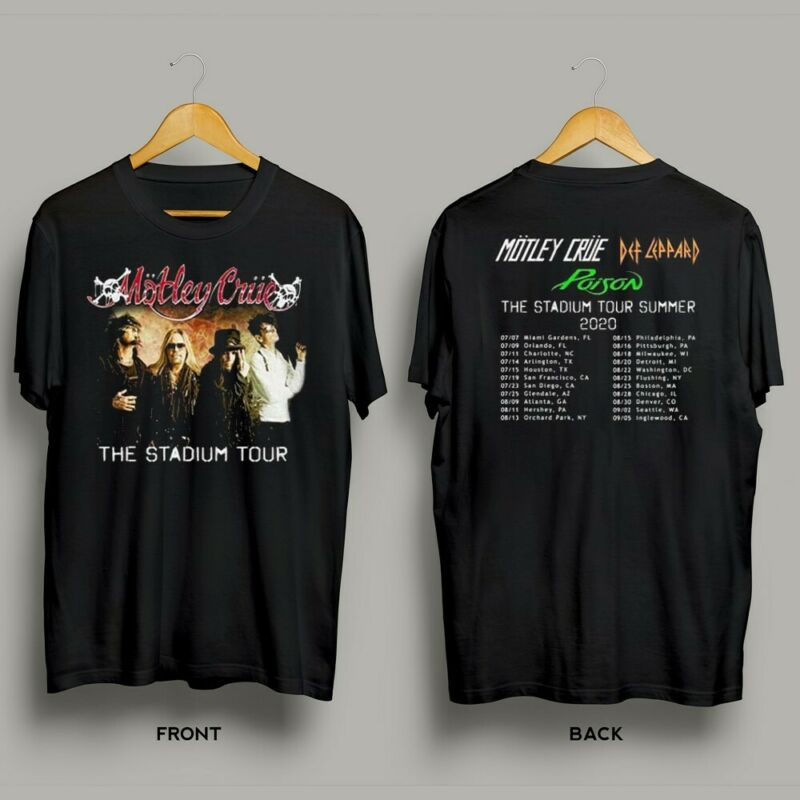 Motley Crue The Stadium Tour 2020 T-Shirt New Tour 2020 Tee Gifts For Fans S-6XL