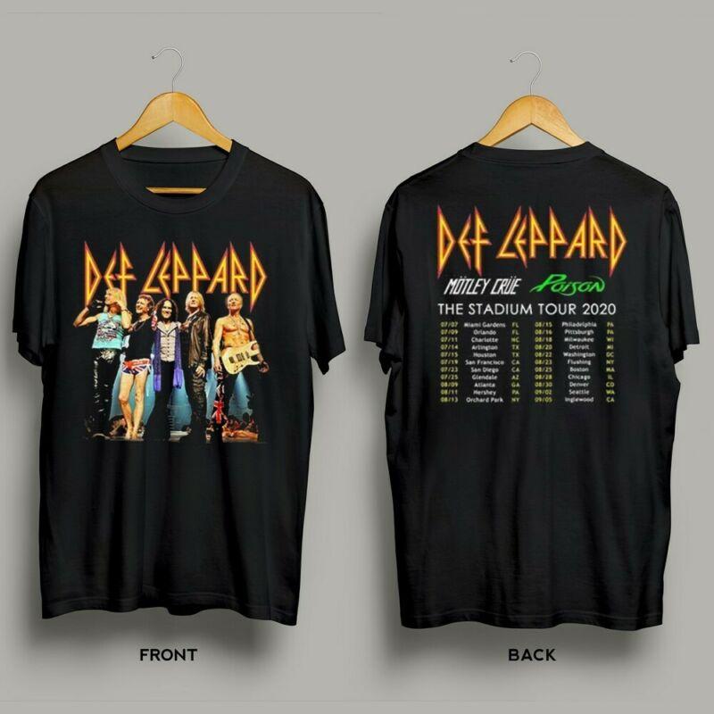 FREESHIP Deff Leppardd T-Shirt The Stadium Tour 2020 Black New Tour Tee S-6XL