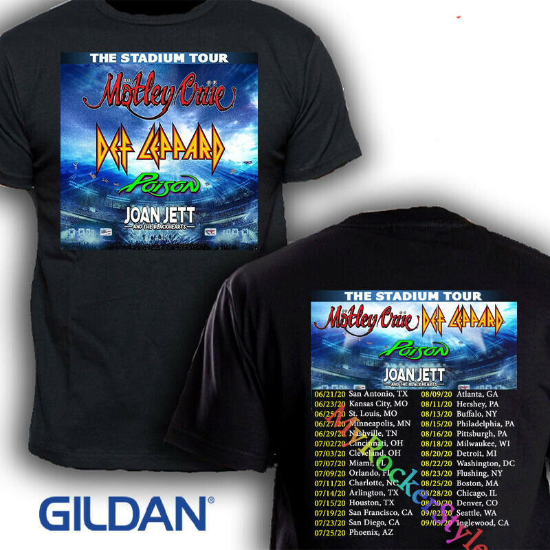Joan Jett and def leoppard the stadium tour 2020 Concert T Shirt Size S - 2XL
