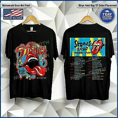 The-Rolling-Stones-USA-CA-No-Filter-Tour-2020 Black T-Shirt Size S-3XL