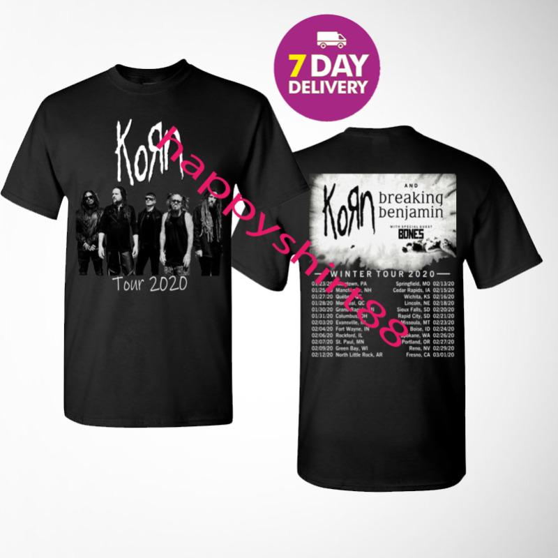 KORN WINTER TOUR 2020 Black Gildan T-Shirt.Size S-3XL