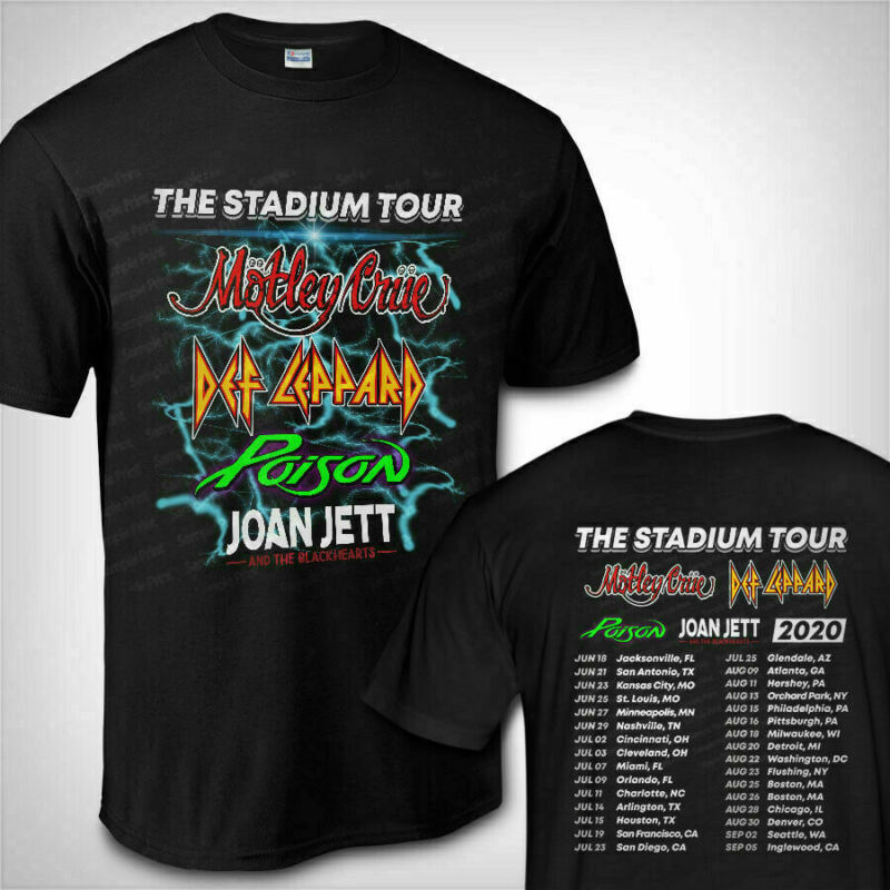 New Motley Crue Def Leppard Poison The Stadium Tour 2020 T-SHIRT Size S-2XL tee