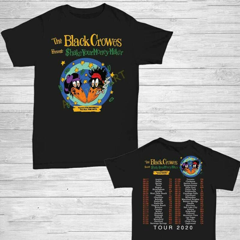 The Black Crowes t Shirt 30th anniversary tour 2020 T-Shirt Size M-3XL Men Black