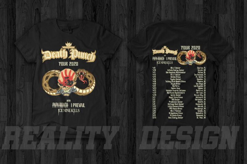 Five Finger Death Punch Tour 2020 T-Shirt Papa Roach Ice Nine Kills I Prevail