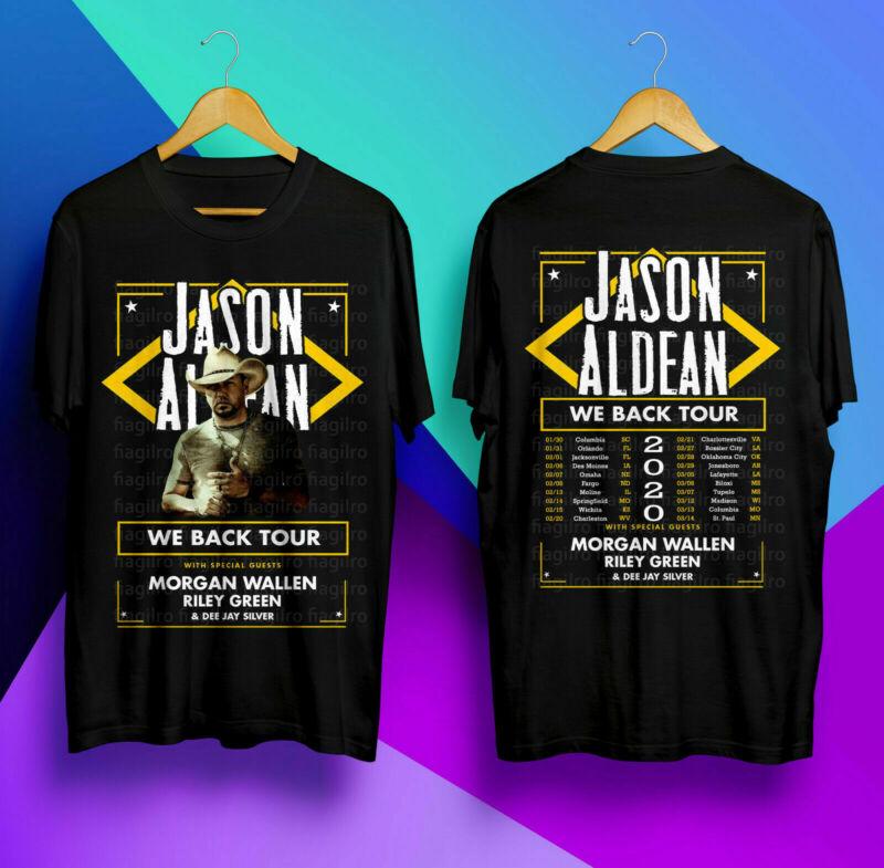 Details about JASON ALDEAN We Back Tour 2020 Black Tshirt