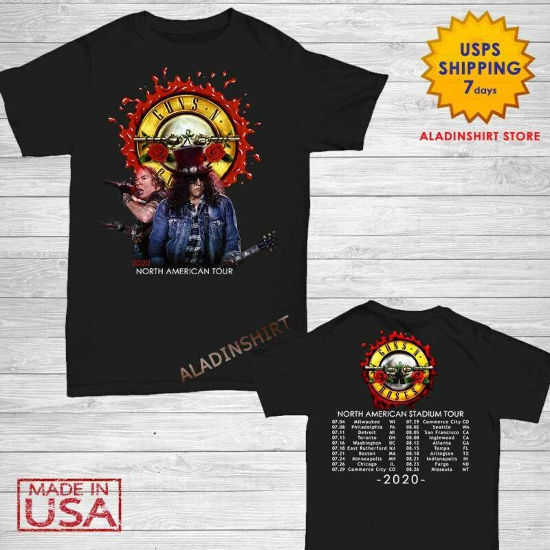 Guns N Roses t Shirt North American stadium tour 2020 T-Shirt Size M-2XL Men