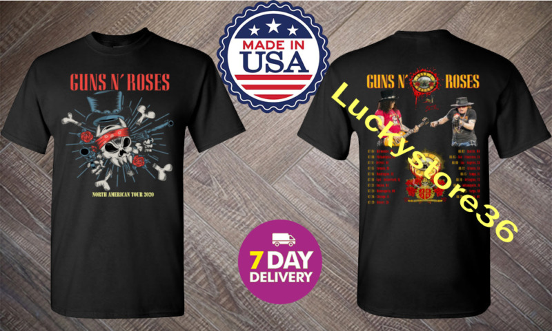 New Guns N Roses North American stadium tour 2020 Black Men T-Shirt.