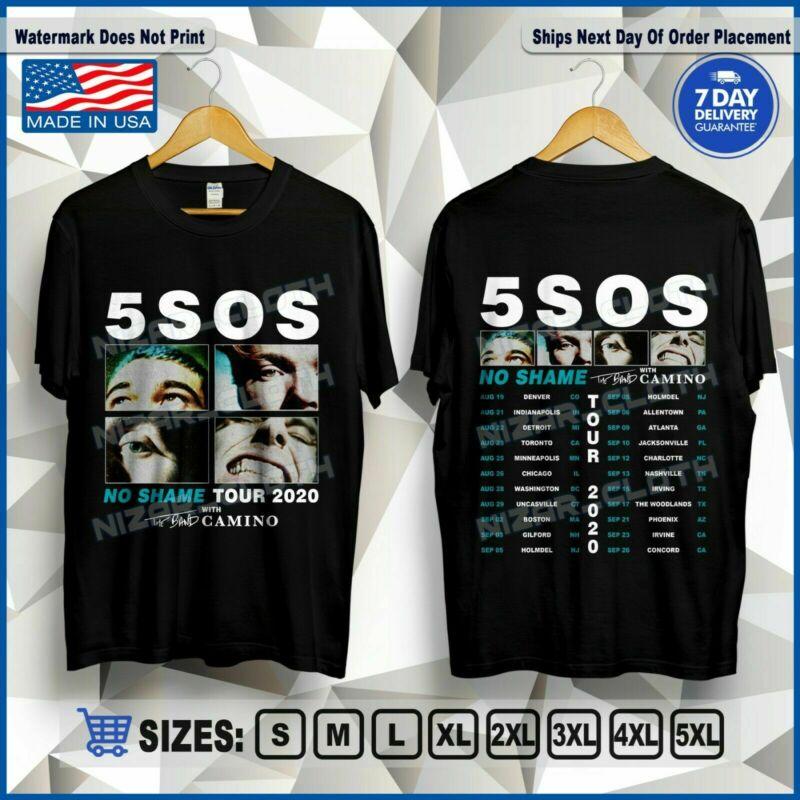 5 Seconds Of Summer No Shame Tour 2020 5SOS T-Shirt Size S-2XL Tee