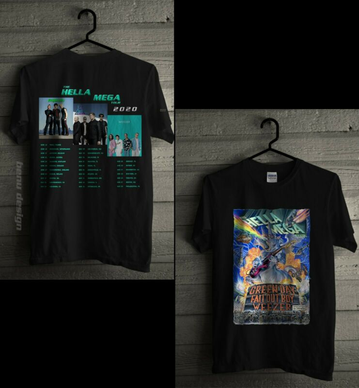 The Hella Mega Tour 2020 T Shirt Green Day Fall Out Boy Weezer