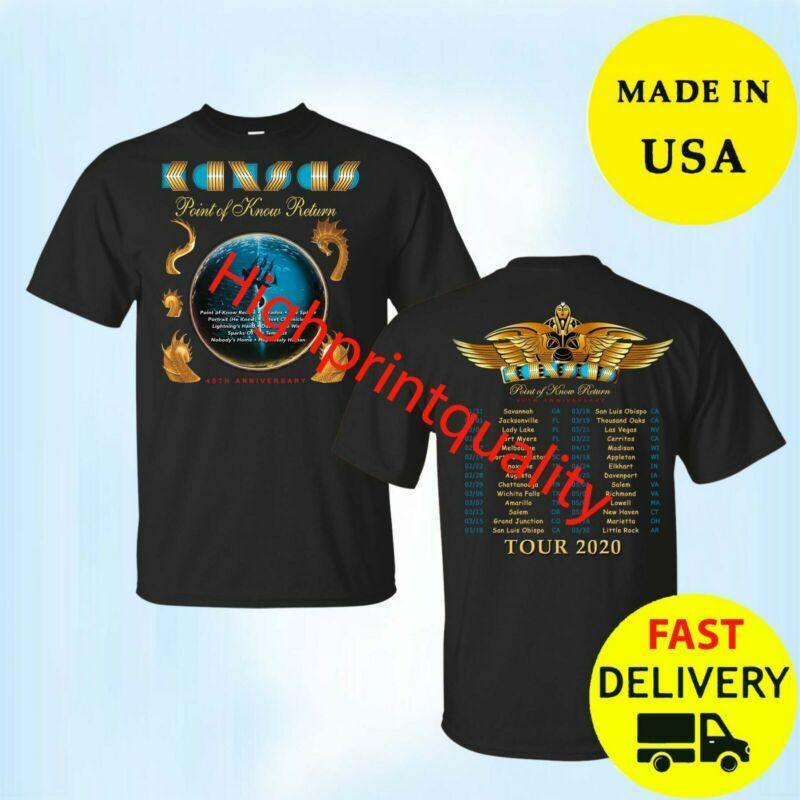 Kansas Band Shirt Tour 2020 T-Shirt Black Men Christmas Gift All Size