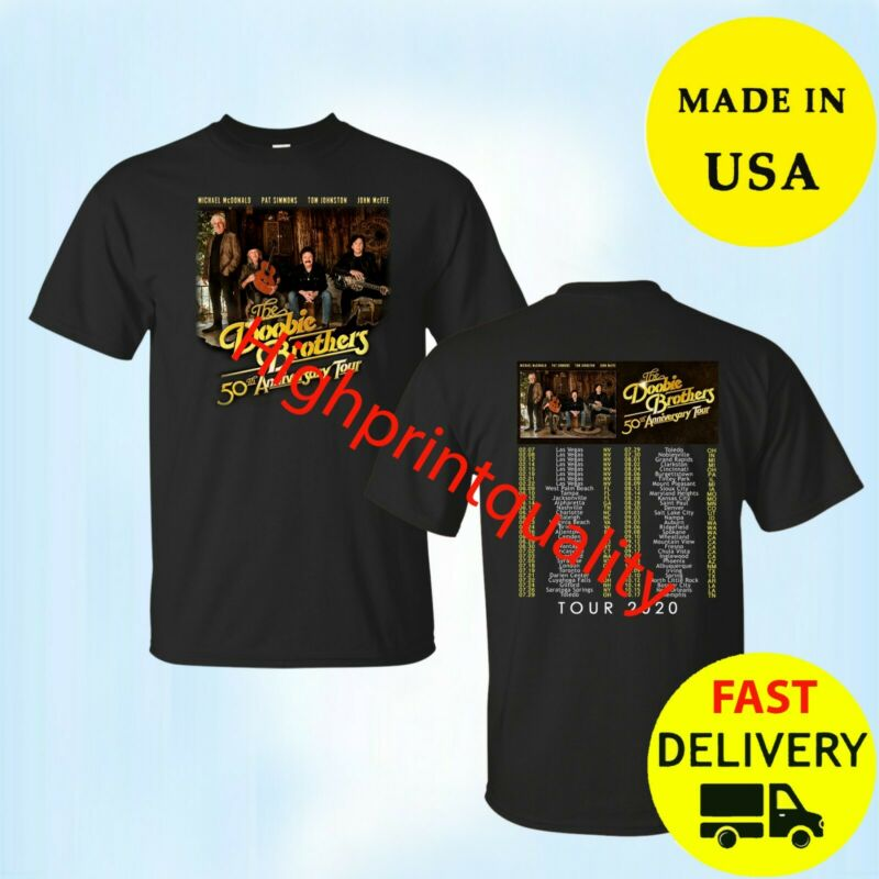 The Doobie Brothers 50th Anniversary Tour 2020 T-Shirt Black Mens Tee All Size