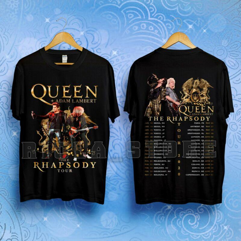 Queen + Adam Lambert The Rhapsody Tour 2020 with Dates T-Shirt Size S-5XL