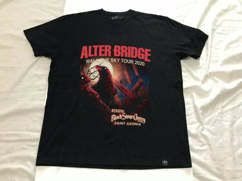 New ALTER BRIDGE Black Stone Cherry&Saint Asonia walk the sky tour 2020 T shirt