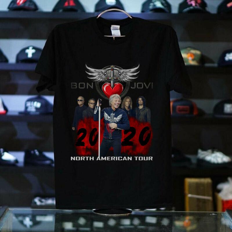 Bon Jovi and Bryan Adams 2020 Concert Tour WHITE T shirt USA ALL SIZE S-5XL HOT