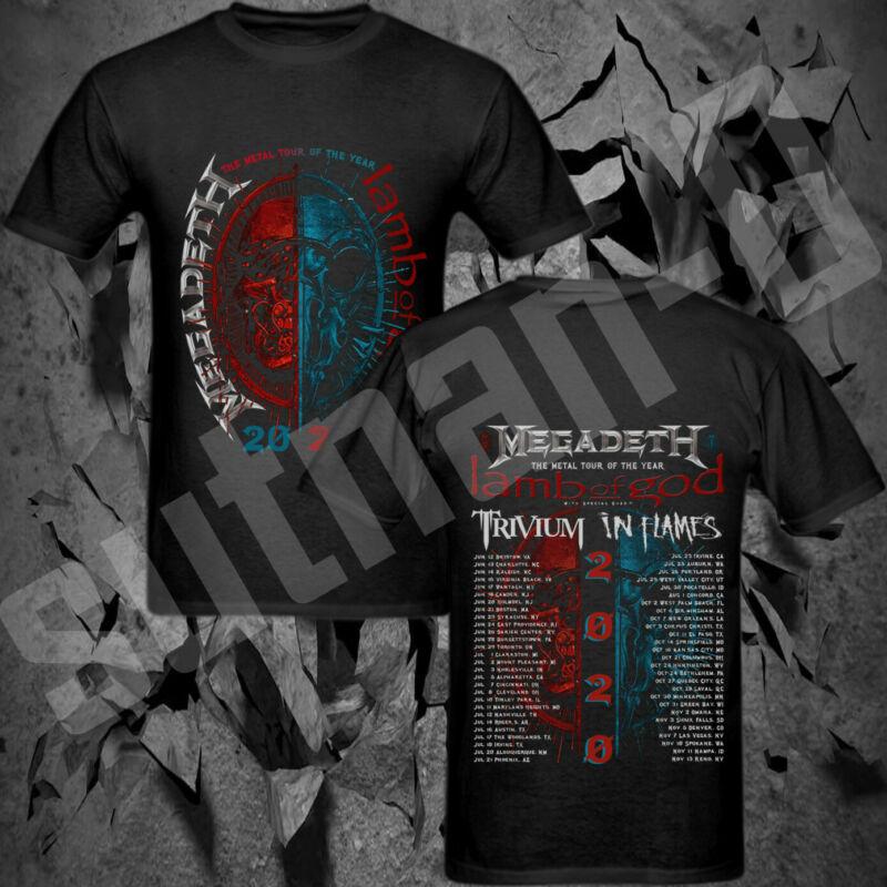 #2020 Megadeth & Lamb Of God Metal Tour 2020 with Trivium In Flames T-Shirt
