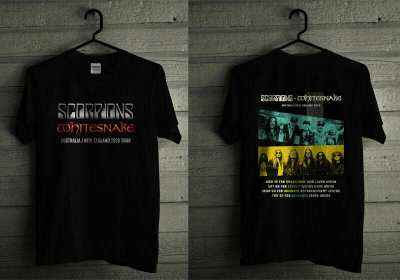 NEW Scorpion & Whitesnake Australia New Zealand 2020 Tour T-Shirt