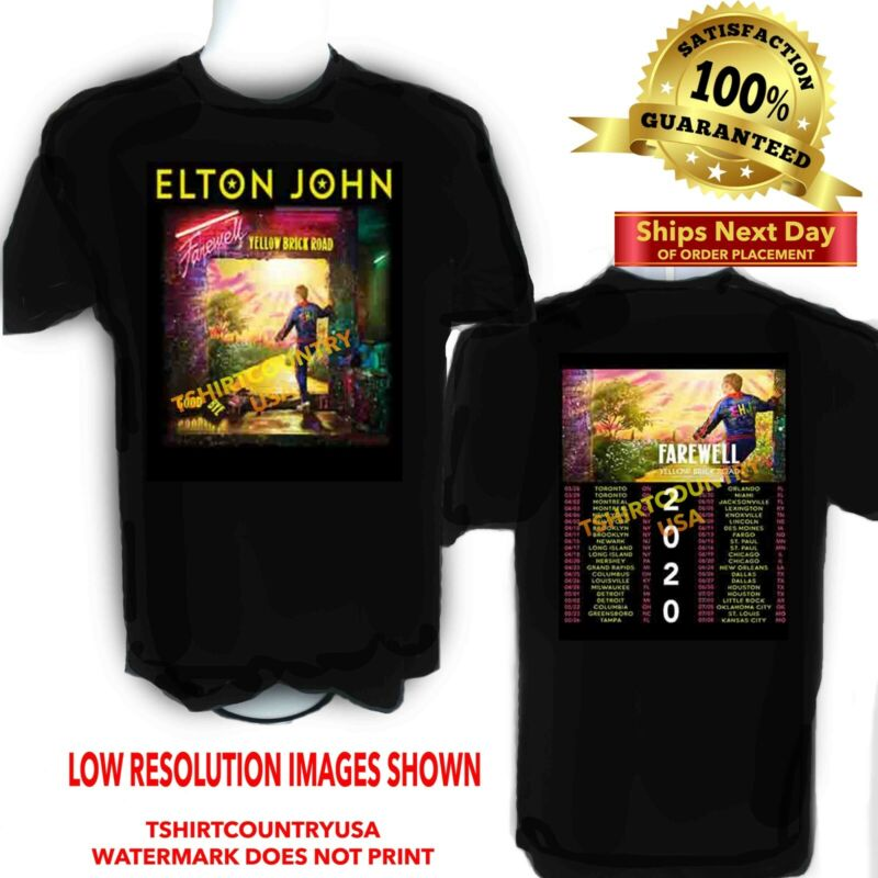 Elton John 2020 Farewell Yellow Brick Road Concert Tour t shirt Sizes S to 6X