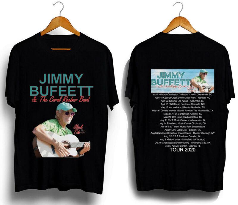 Jimmy Buffett t Shirt Slack Tide Tour 2020 T-Shirt Size S-3XL Men Black and Blue