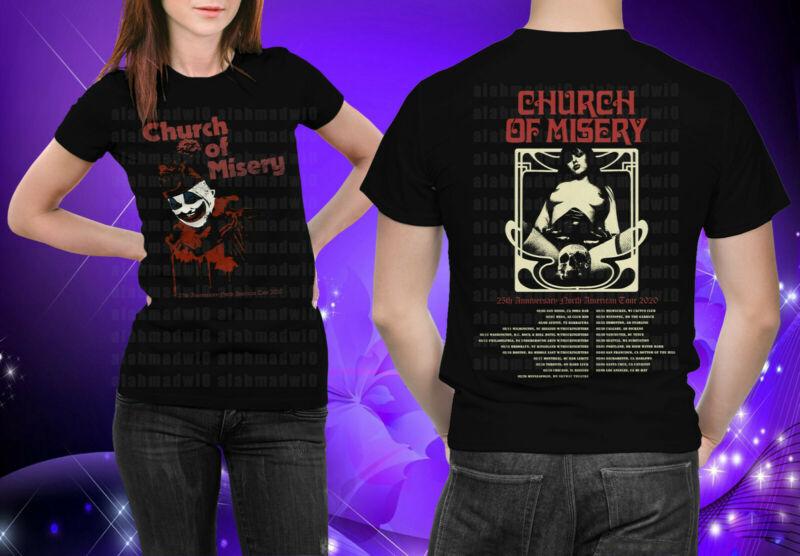 Church Of Misery 25th Anniversary North American Tour 2020 Black Tshirt