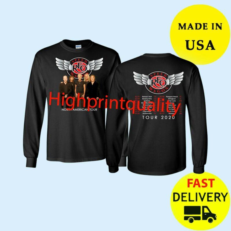 REO Speedwagon Shirt Tour 2020 Long T-Shirt Black Mens Gift All Size Tee