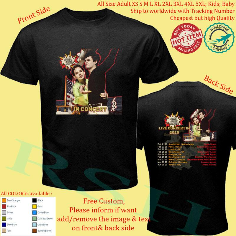 T-shirt LANA DEL REY NORMAN F*CKING ROCKWELL TOUR 2020 UK Concert Album all size