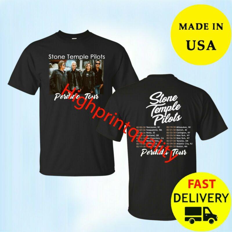 Stone Temple Pilots Shirt Perdida Tour 2020 T-Shirt Black Mens Tee All Size