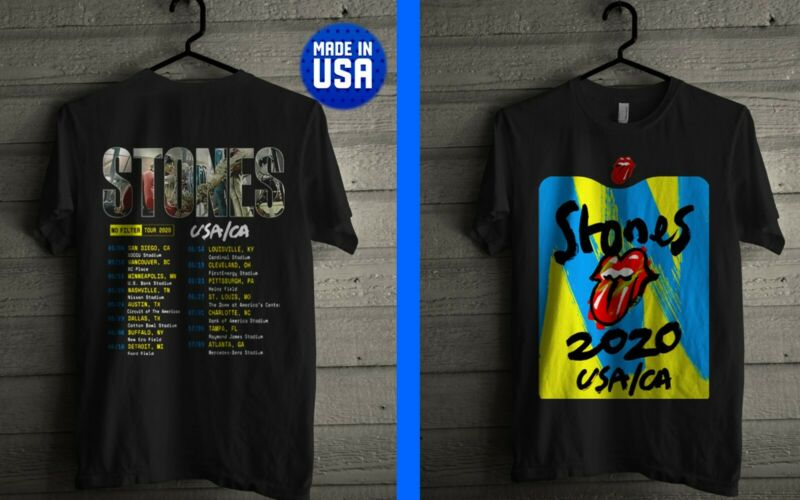 New Rolling Stones No Filter Tour USA CA 2020 LIMITED EDITION USA SZ S-5XL