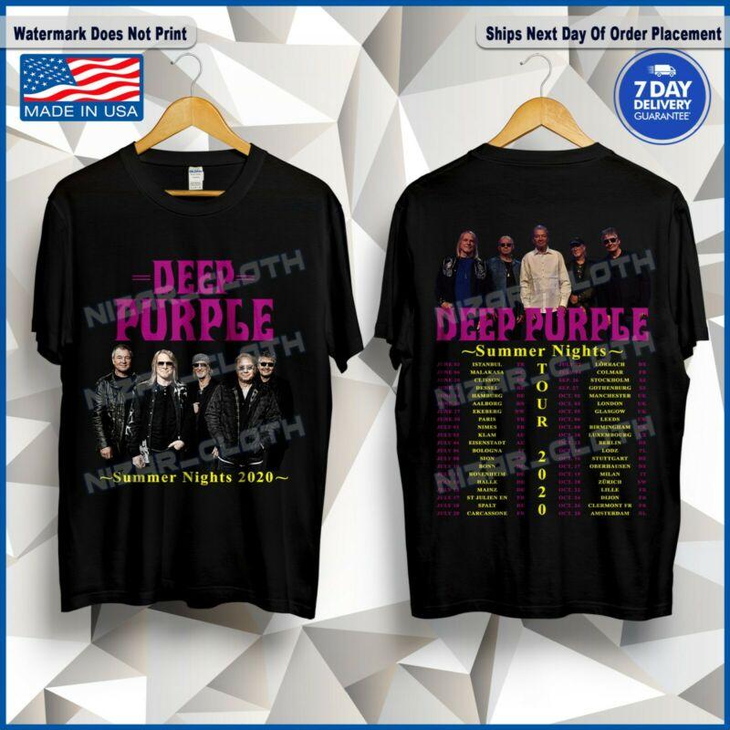 New Deep Purple Summer Nights 2020 Tour Dates T-Shirt Size S-5XL