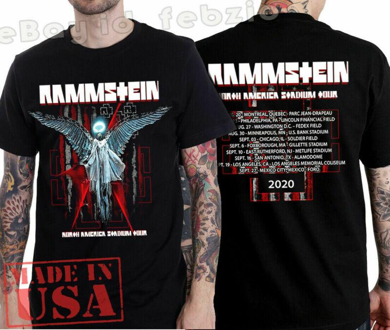 Rammstein T-shirt North America Stadium Tour 2020 Rock Industrial Size S to 2XL