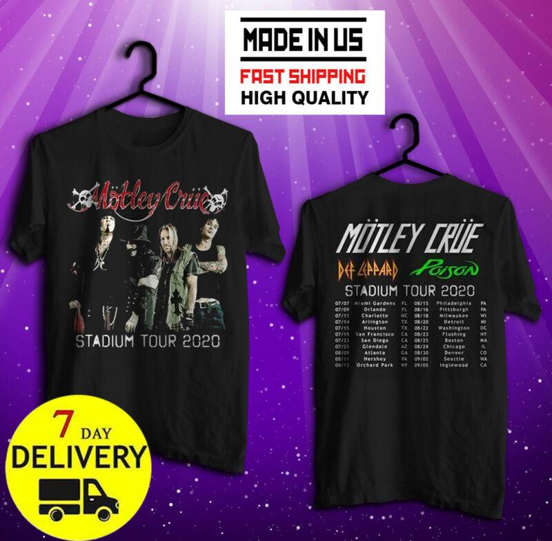 Motley Crue Shirt The Stadium Tour 2020 T-Shirt Black Size S-5XL SHIPMENT 7 DAY