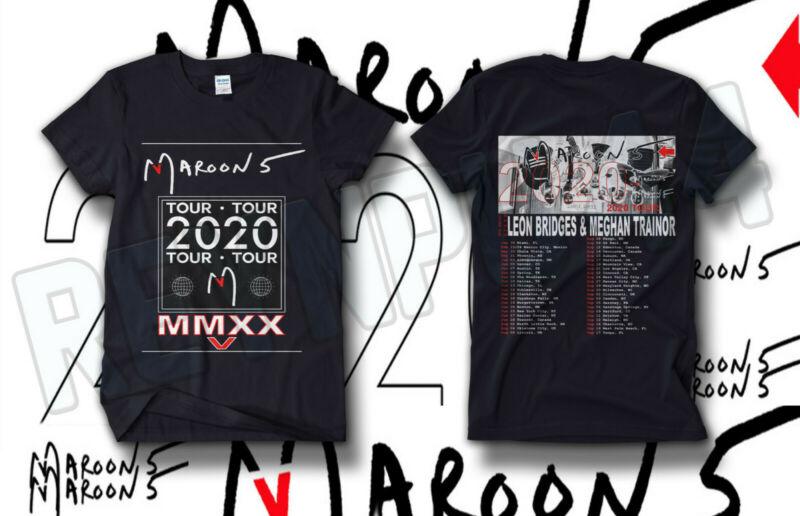 LA Maroon 5 Concert Shirt Tour Dates 2020 GILDAN BLACK T SHIRT AMERICAN SIZE