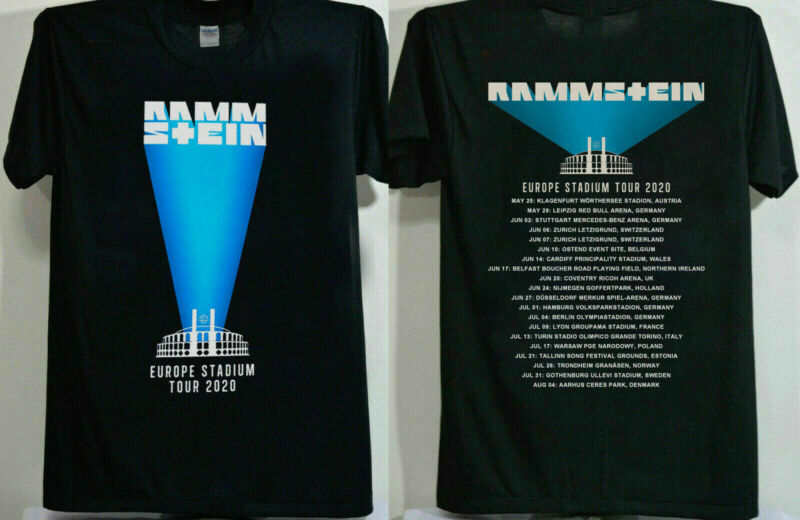 Rammstein Europe Stadium Tour 2020 date Size S - 2XL T-shirt muraah