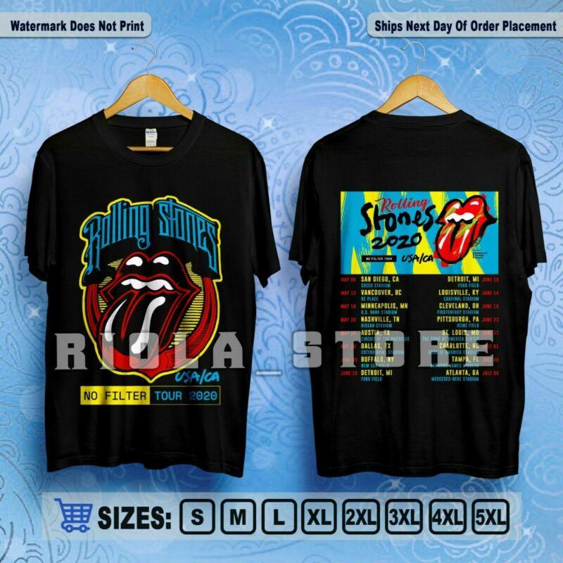 The R0lling St0nes No Filter Tour USA/CA 2020 Tour Dates T-Shirt S-5XL