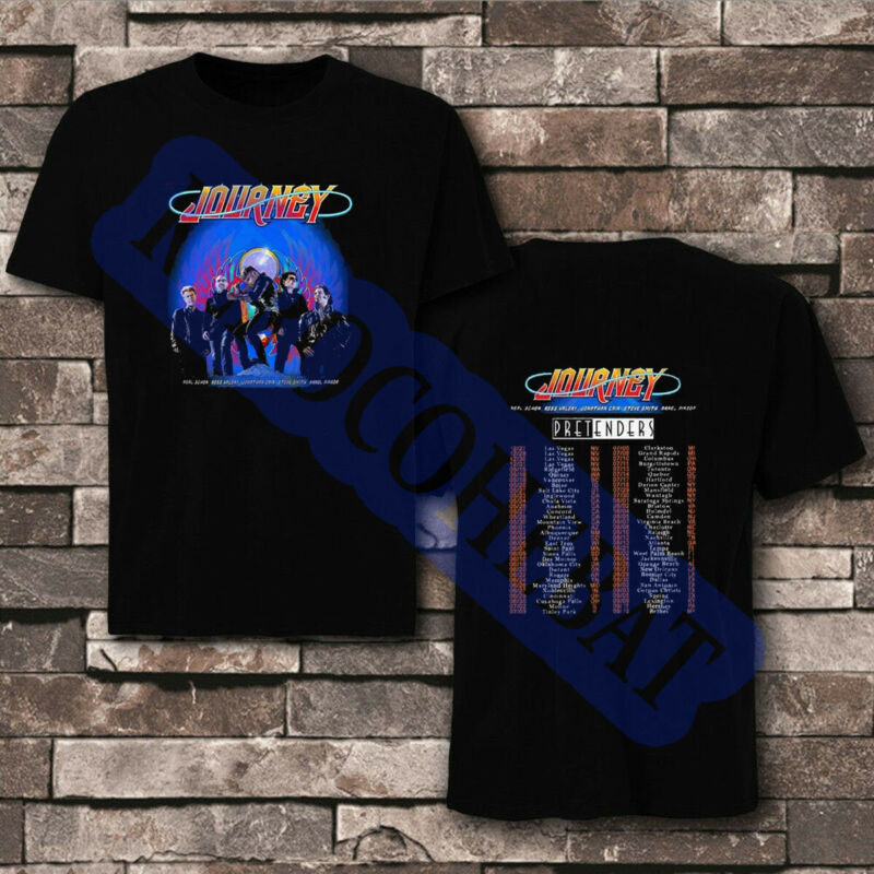 Journey t Shirt North American Tour 2020 With The Pretenders T-Shirt Size Men