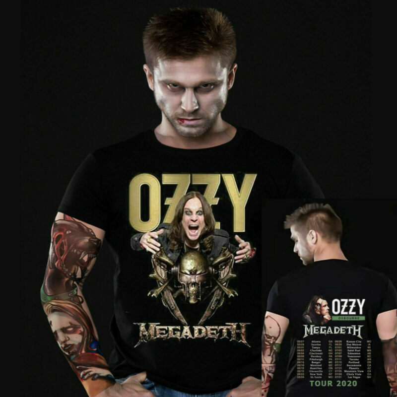Ozzy Osbourne tour date t Shirt Megadeth 2020 No More Tours 2 T-Shirt S-2XL