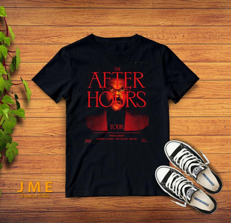 The Weeknd The After Hours Tour 2020 New T-Shirt Gildan Soft cotton Black S-2XL