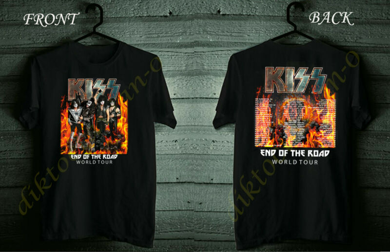 KISS Tour 2020 End Of The Road Final World Black Shirt Size S-5XL #Dico
