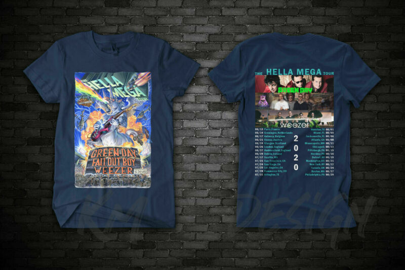 BAND GREEN DAY  FALL OUT BOY  WEEZER THE HELLA MEGA TOUR 2020 T SHIRT 100% Cotto /BAND-GREEN-DAY-FALL-OUT-BOY-WEEZER-THE-283699135828.html