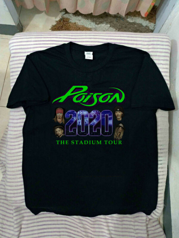 New Poison Shirt 2020 The Stadium Tour Motley Crue Def Leppard USA size t-shirt