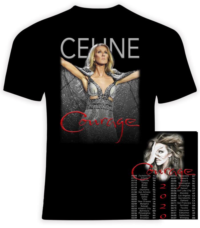 Celine Di0n 2020 Courage Concert Tour T-Shirt S-3XL