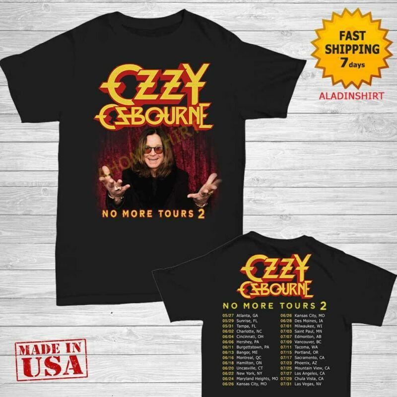 Ozzy Osbourne t Shirt 2020 No More Tours 2 T-Shirt Black Size M-2XL Men 2 Side