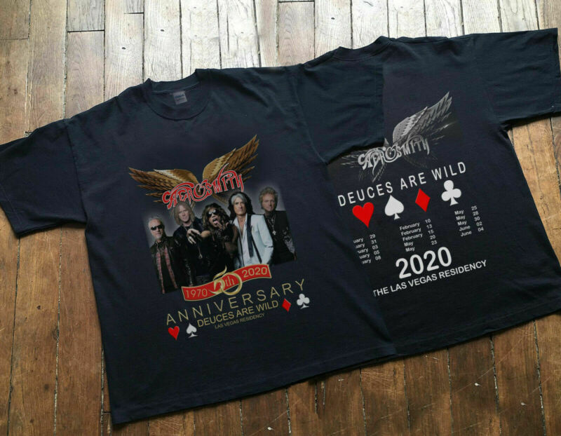 Aer0smith 50th Anniversary and Las Vegas Residency Concert Tour 2020 T-Shirt