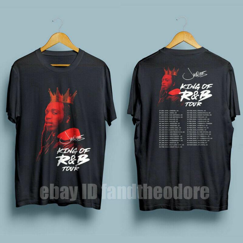 Jacquees King of R&B Tour 2020 R&B Hip Hop Tour Mens Black T-Shirt S-5XL