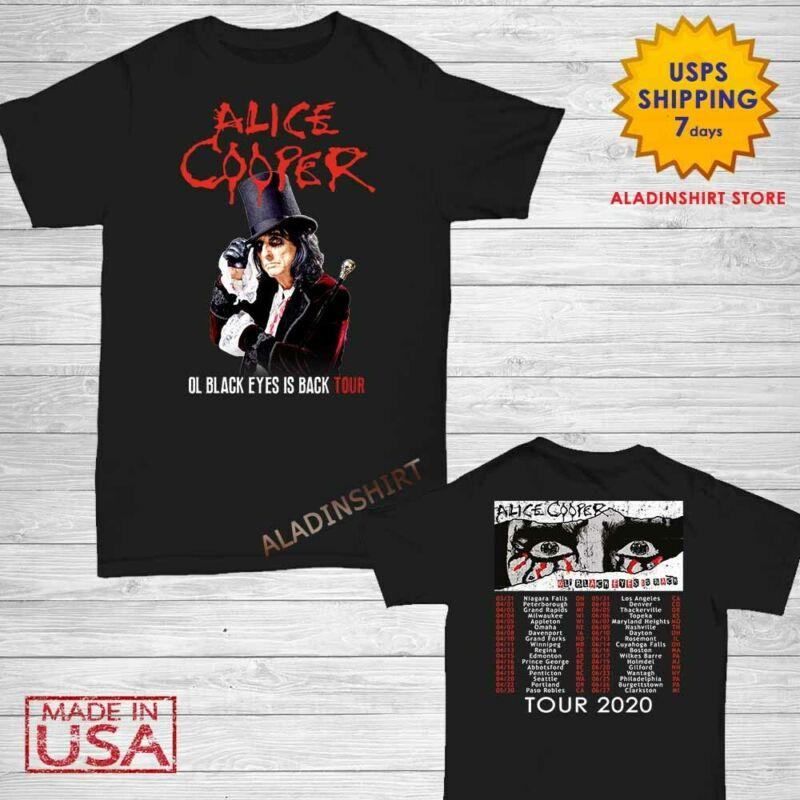 Alice Cooper t Shirt OL Black Eyes is Back Tour 2020 T-Shirt size Men Black