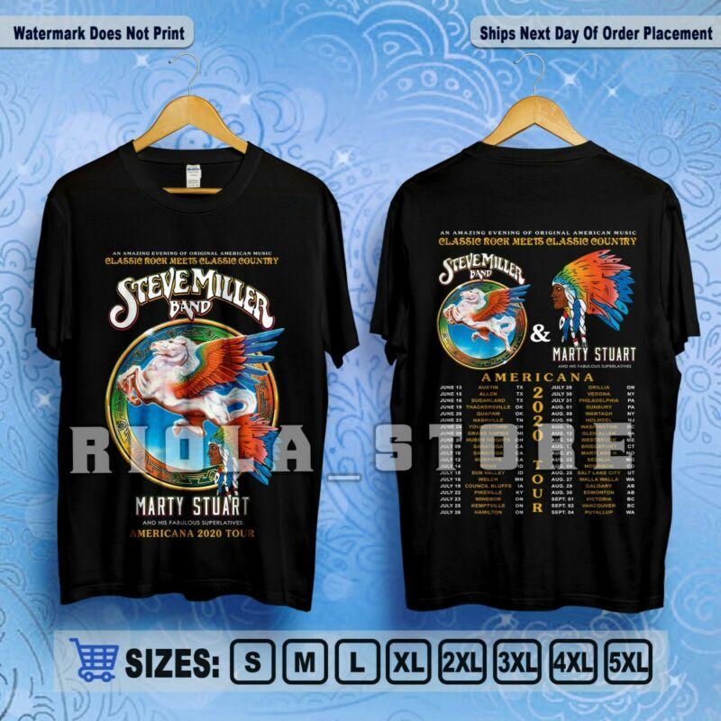 Steve Miller Band & Marty Stuart Americana 2020 Tour T-Shirt Size S-5XL