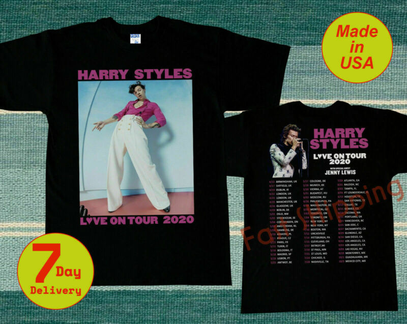 H4rry Styl3s Live On Tour 2020 with Full Dates USA T-Shirt Full size